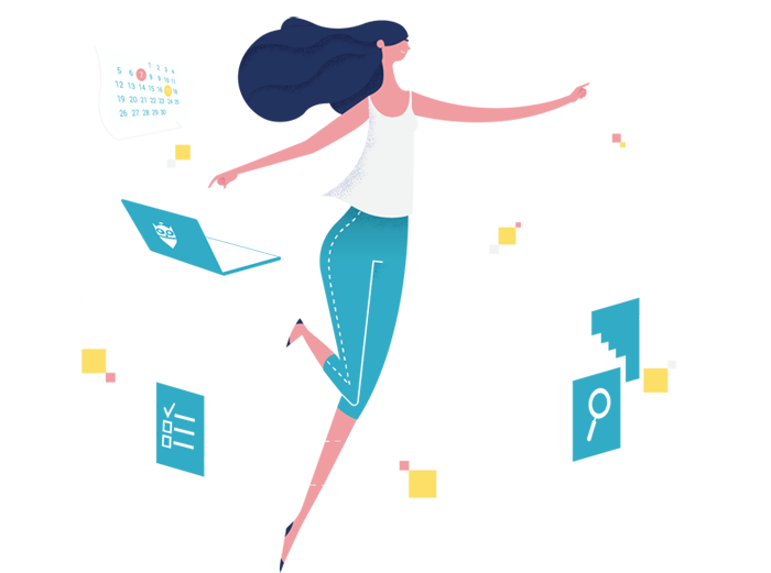 woman dancing with contract features