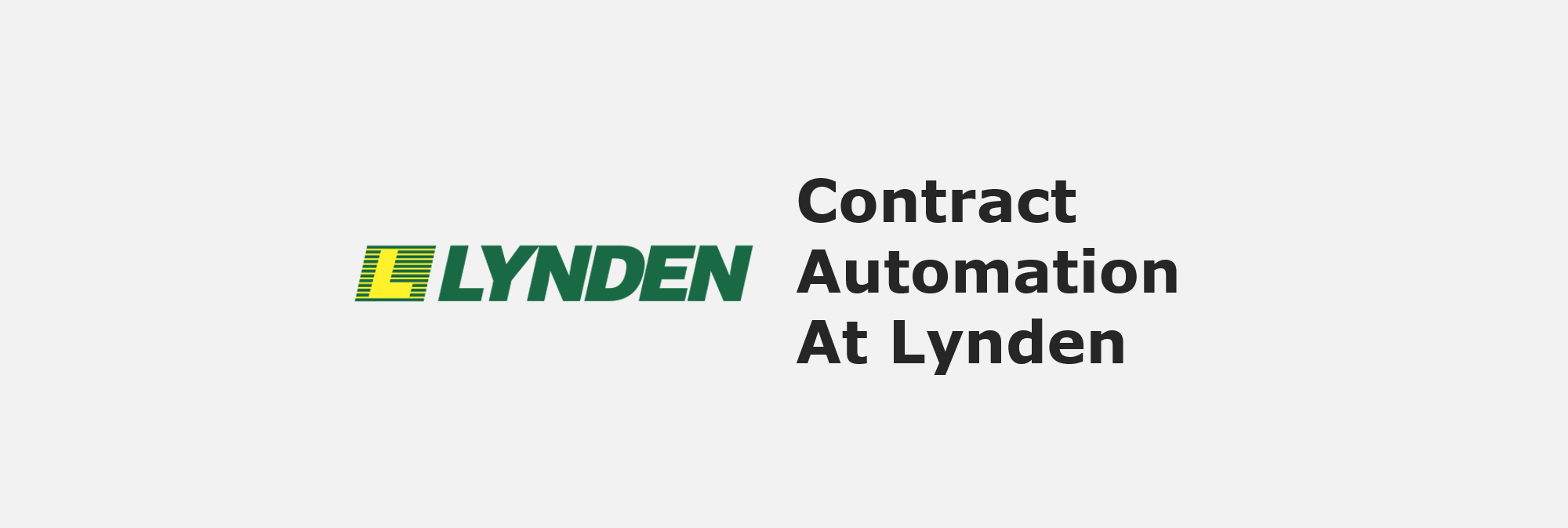 contract automation at Lynden
