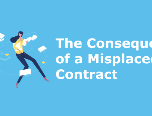 The consequences of a misplaced contract